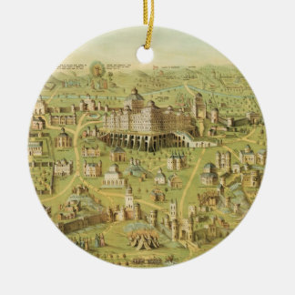 The Ancient City of Jerusalem & Solomon's Temple Christmas Ornament
