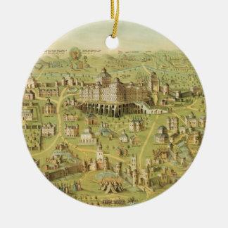 The Ancient City of Jerusalem & Solomon's Temple Christmas Ornament