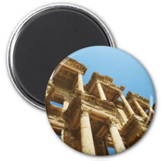 The Ancient Library of Celsus in Ephesus - photo 6 Cm Round Magnet