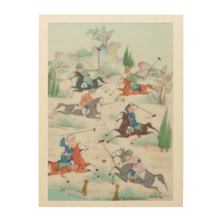 The Ancient Persian Polo Players! Wood Print