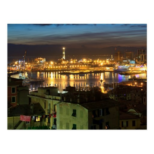 The ancient port in Genova, Italy Postcards