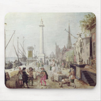 The Ancient Port of Antwerp Mouse Mat