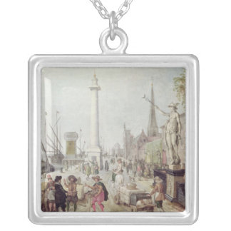 The Ancient Port of Antwerp Silver Plated Necklace