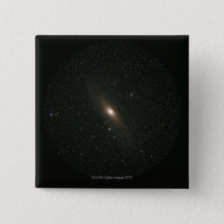 The Andromeda Galaxy 15 Cm Square Badge
