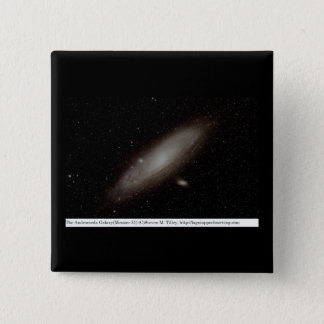 The Andromeda Galaxy (M31) 15 Cm Square Badge