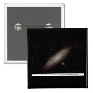 The Andromeda Galaxy (M31) 15 Cm Square Badge