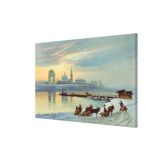 The Angara Embankment in Irkutsk, 1886 Canvas Print