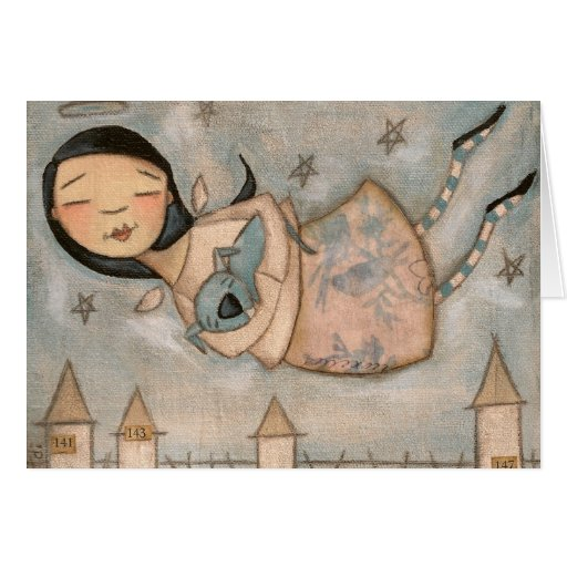 The Angel and the Blue Dog - Notecards Cards