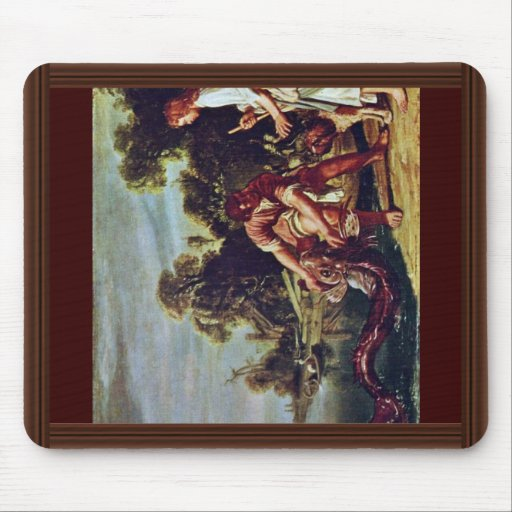 The Angel And Tobias With The Fish By Pieter Piete Mousepads