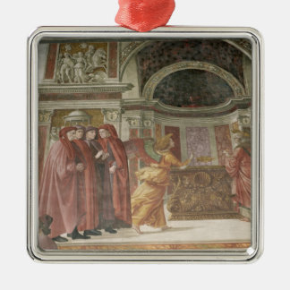 The Angel appearing to St. Zacharias in the Christmas Ornament