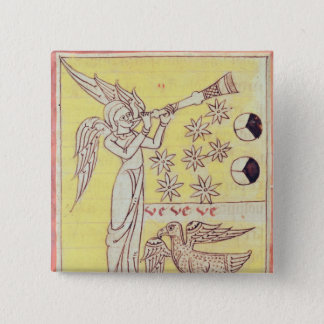 The Angel Blowing the Trumpet 15 Cm Square Badge