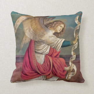 The Angel Gabriel Christmas Throw Pillows