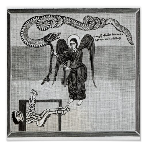 The Angel, holding the Keys of Hell Print