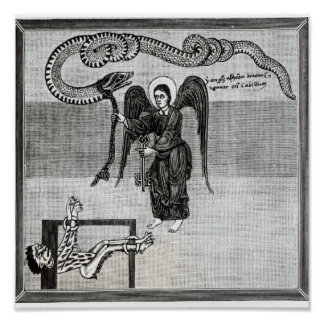The Angel holding the Keys of Hell Print