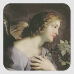 The Angel of the Annunciation, c.1650 Square Sticker