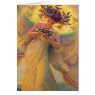 The Angel of the Birds Franz Dvorak 1910 Card