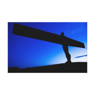 The Angel of the North at Sunset Canvas Print