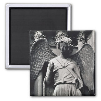 The Angel with a Smile Square Magnet