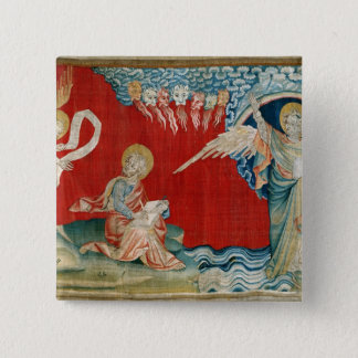 The Angel with an Open Book 15 Cm Square Badge