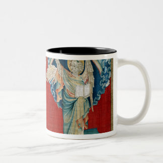 The Angel with an Open Book Two-Tone Coffee Mug
