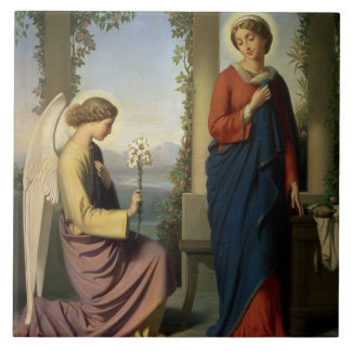 The Angelic Salutation, or The Annunciation, 1860 Tile