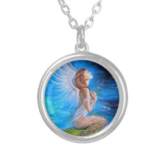 The Angel's Prayer Silver Plated Necklace