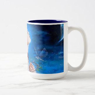 The Angel's Prayer Two-Tone Coffee Mug