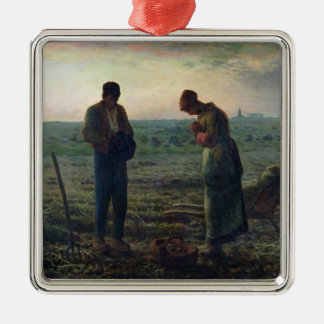 The Angelus, 1857-59 Silver-Colored Square Decoration