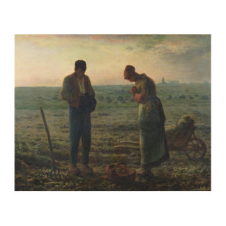 The Angelus, 1857-59 Wood Wall Art