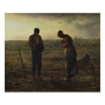 The Angelus by Jean-François Millet Poster