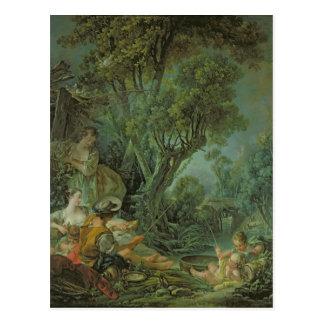 The Angler, 1759 Postcard
