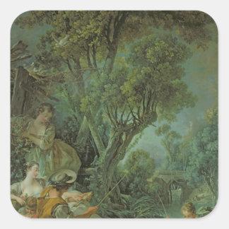 The Angler, 1759 Square Sticker