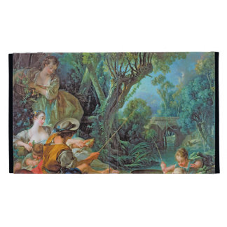 The Angler Boucher Francois rococo scene painting iPad Folio Covers