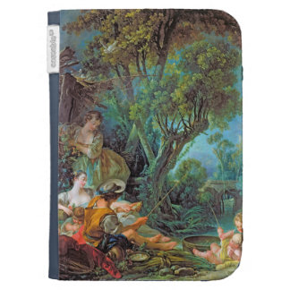 The Angler  Boucher Francois rococo scene painting Kindle Keyboard Case
