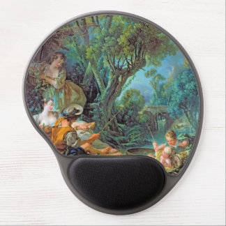 The Angler Boucher Francois rococo scene painting Gel Mousepad