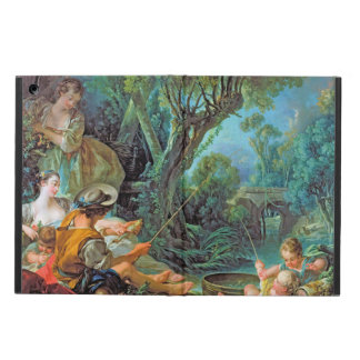 The Angler Boucher Francois rococo scene painting iPad Air Cover