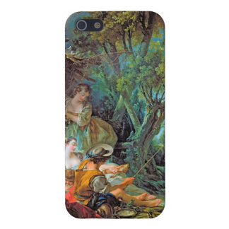 The Angler  Boucher Francois rococo scene painting iPhone 5 Cover