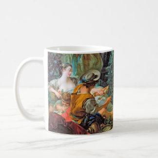 The Angler  Boucher Francois rococo scene painting Mug