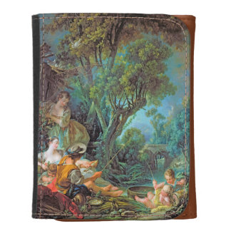 The Angler  Boucher Francois rococo scene painting Wallets