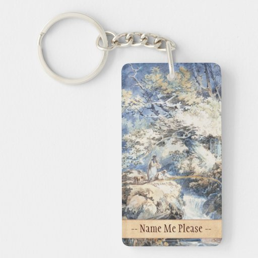 The Angler Joseph Mallord William Turner ART Acrylic Key Chain
