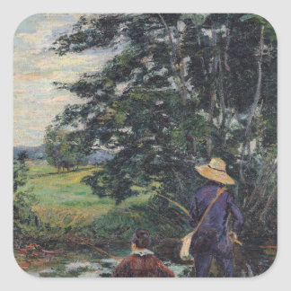The Anglers, c.1885 Square Sticker