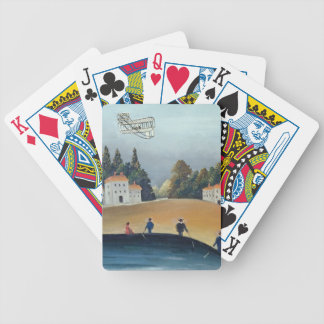 The anglers, c.1908-09 (oil on canvas) bicycle playing cards