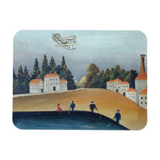 The anglers, c.1908-09 (oil on canvas) rectangle magnet