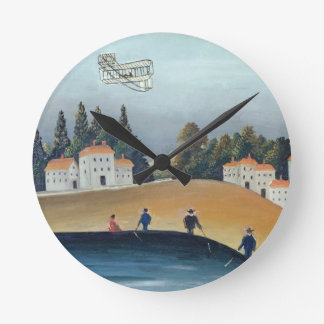 The anglers, c.1908-09 (oil on canvas) round clock