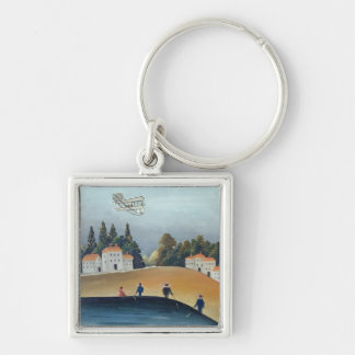 The anglers, c.1908-09 (oil on canvas) Silver-Colored square key ring