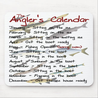The Angler's Calendar Mousepad