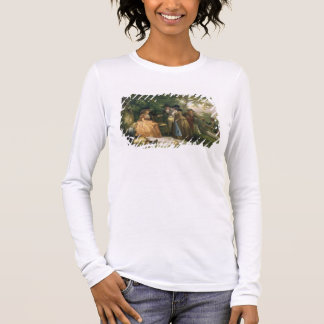 The Angler's Repast (oil on canvas) Long Sleeve T-Shirt