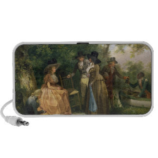 The Angler's Repast (oil on canvas) Travel Speakers
