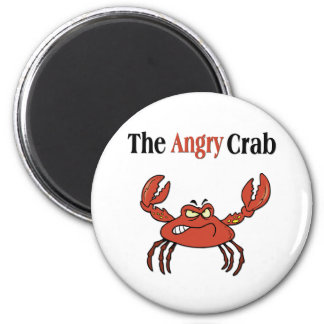 The Angry Crab 6 Cm Round Magnet