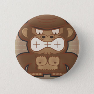 The Angry Donkey Monkey - Muted 6 Cm Round Badge